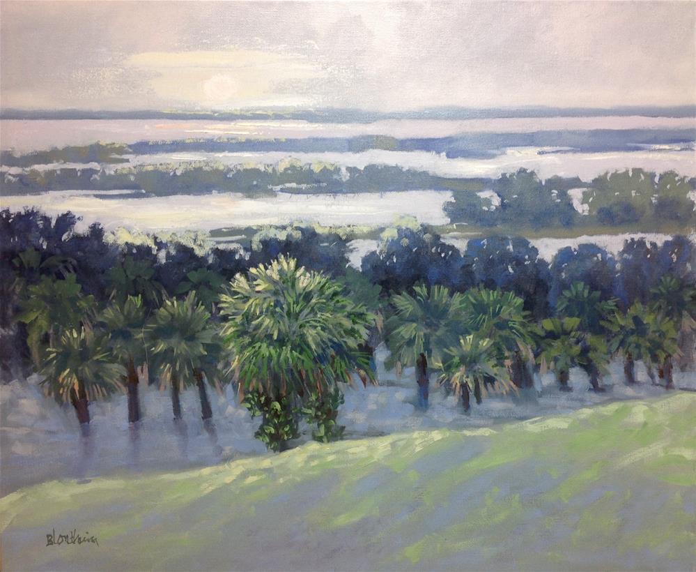 """Orange Lake Overlook"" original fine art by Linda Blondheim"