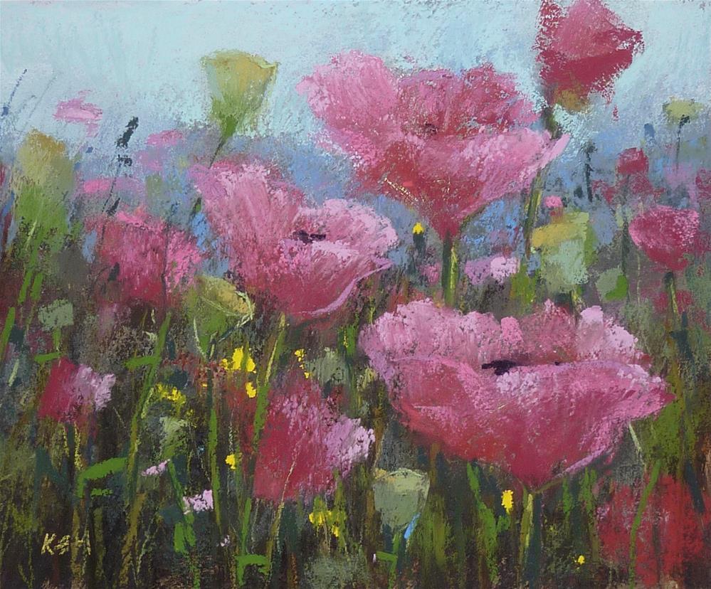 """Pop Up Poppy Painting Sale!"" original fine art by Karen Margulis"