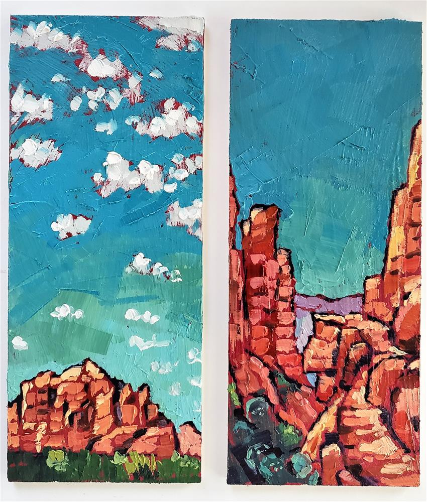 """Sedona Landscapes - Two Panels Combination"" original fine art by Bhavna Misra"