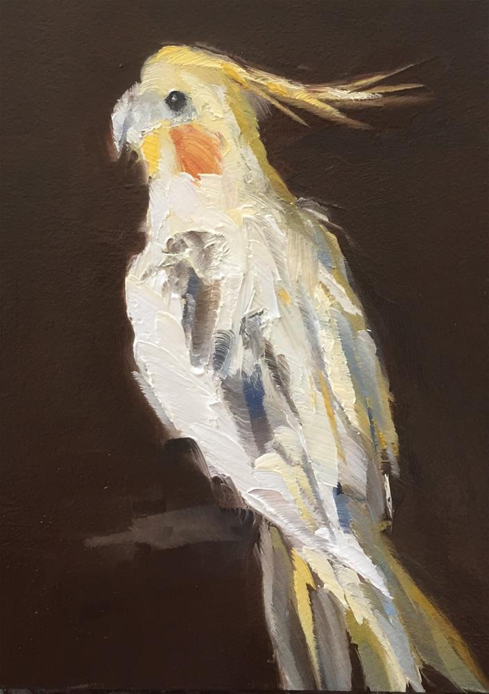 """""""Cockatiel"""" original fine art by Gary Bruton"""