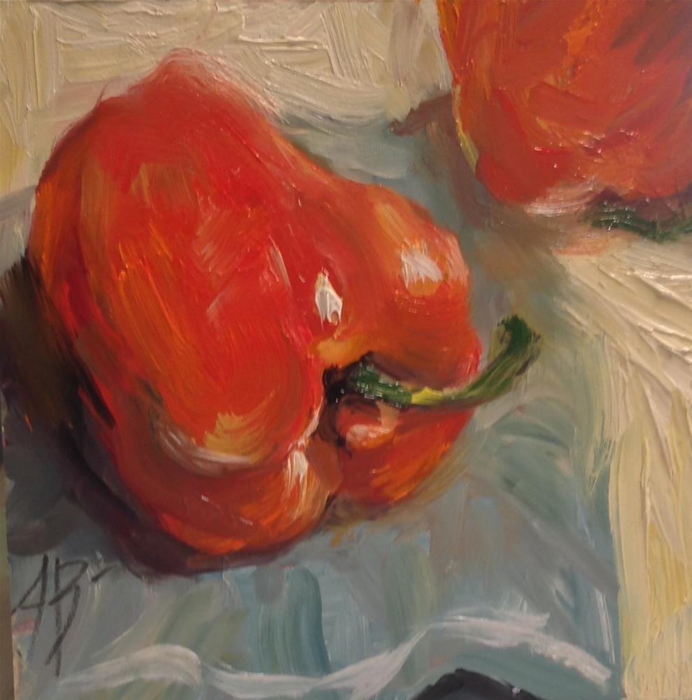 """""""Red Peppers"""" original fine art by Annette Balesteri"""