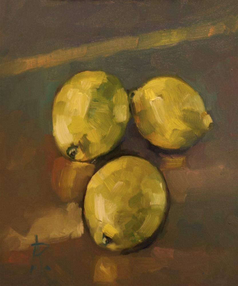 """Lemons"" original fine art by Andre Pallat"