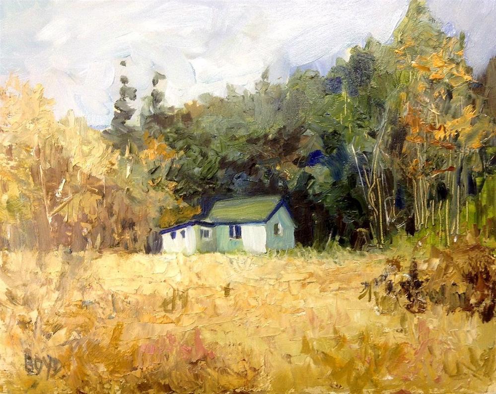 """""""The Hunt Camp"""" original fine art by Cathy Boyd"""