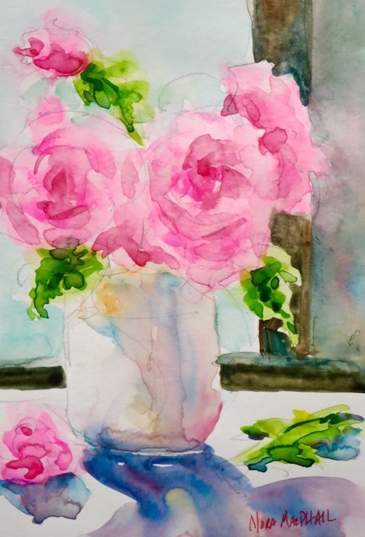 """a rosy glow"" original fine art by Nora MacPhail"