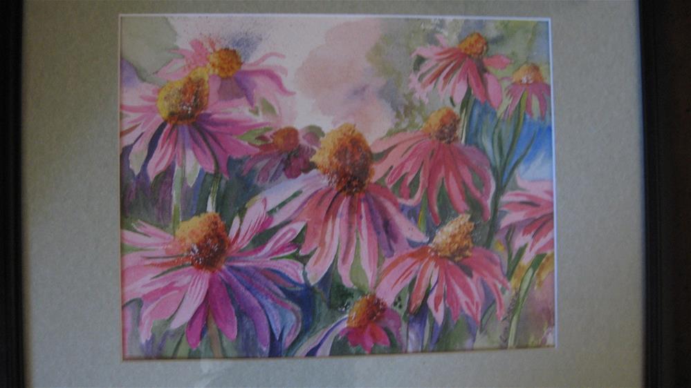 """Cone Flowers"" original fine art by Lisa Darrow"