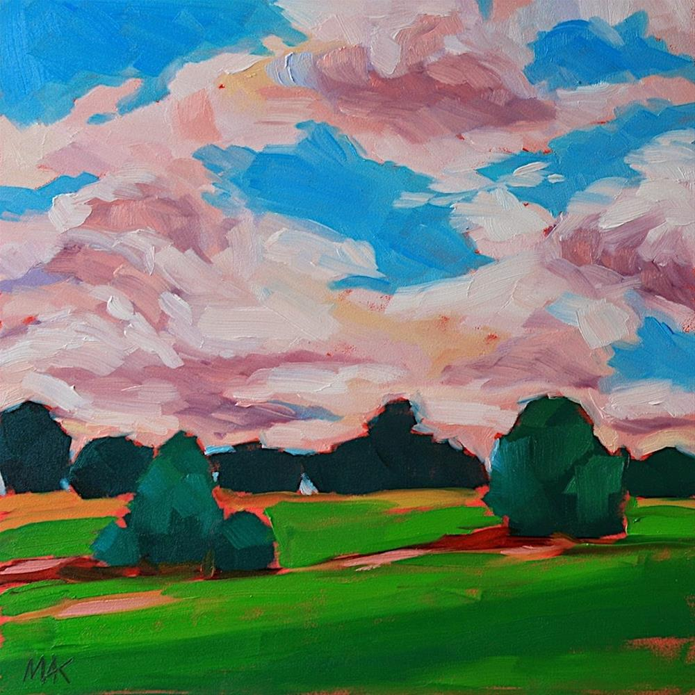 """""""Just Before Dusk"""" original fine art by Mary Anne Cary"""