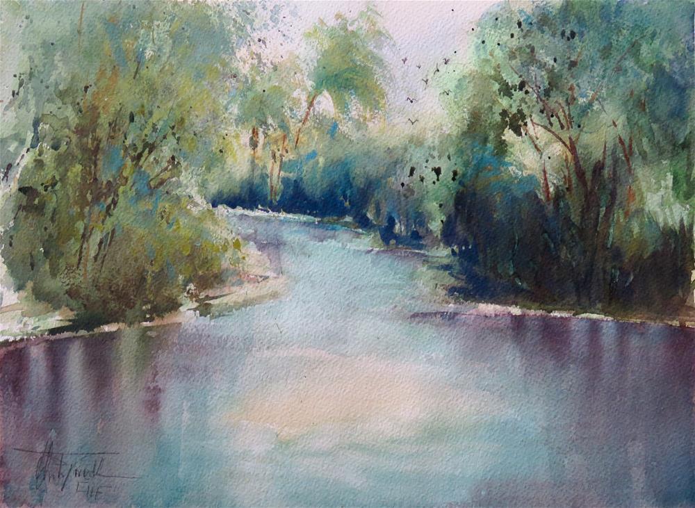 """""""Shell Creek"""" original fine art by Christa Friedl"""