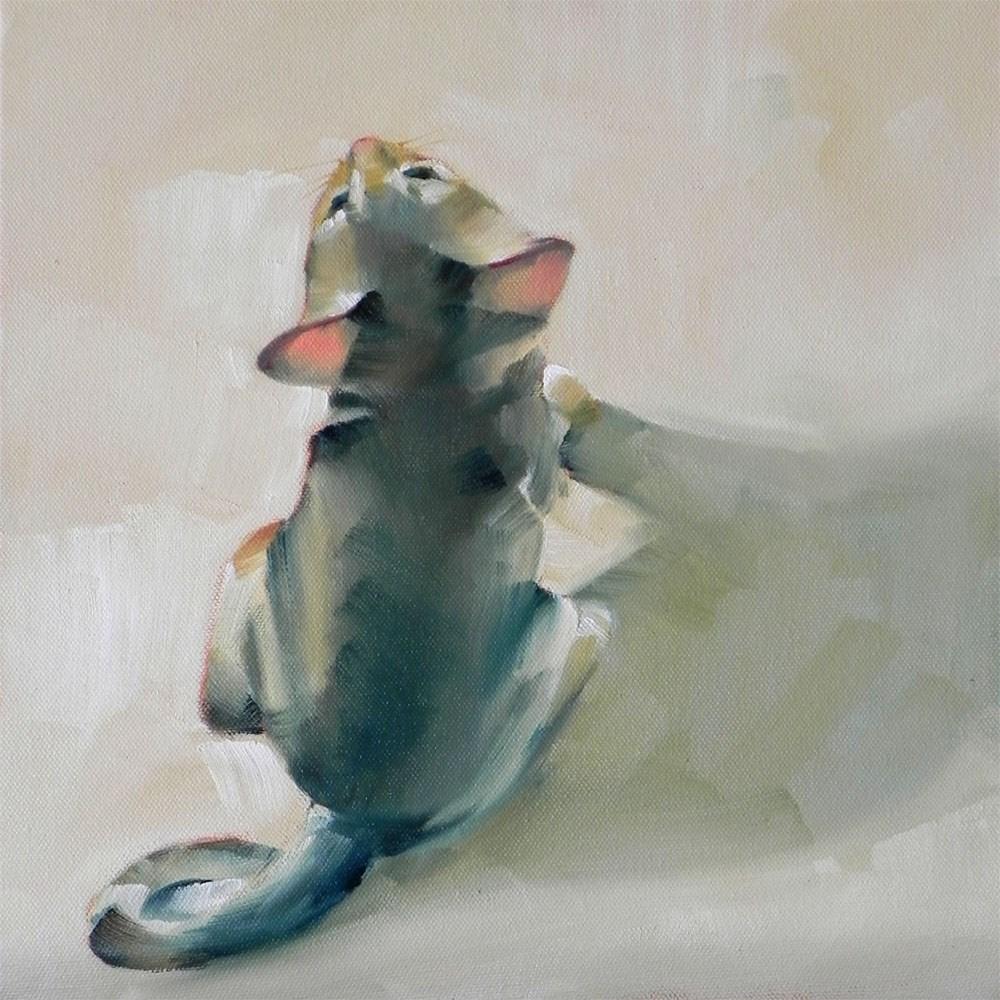 """""""Little Fawn Girl"""" original fine art by Cheryl Wilson"""