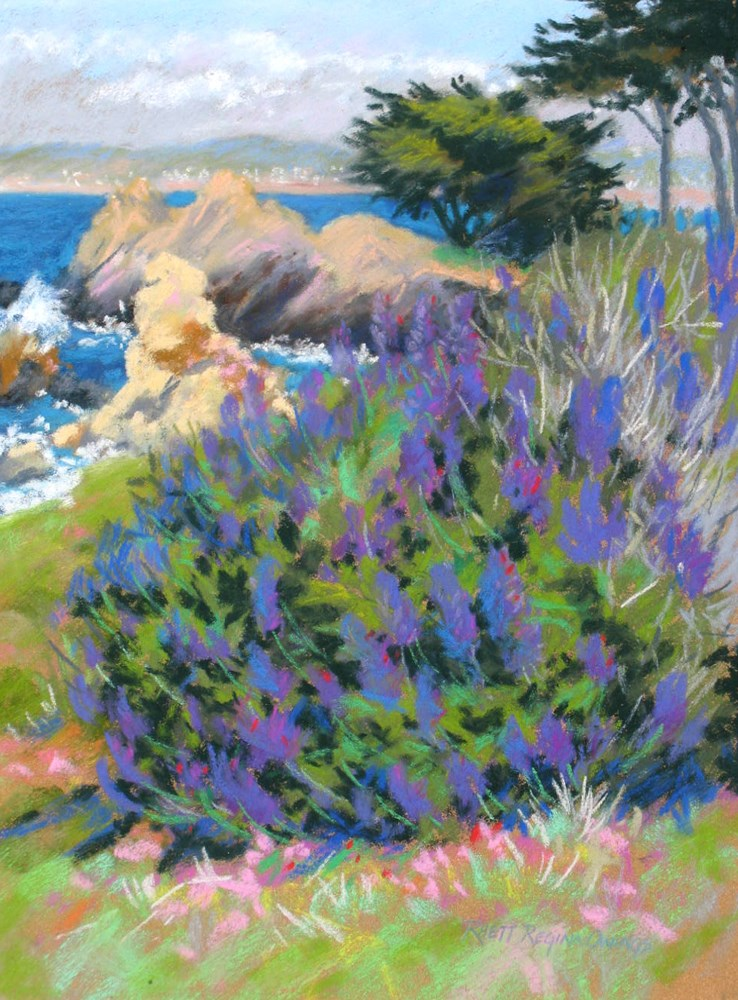 """Spring Color in Pacific Grove"" original fine art by Rhett Regina Owings"