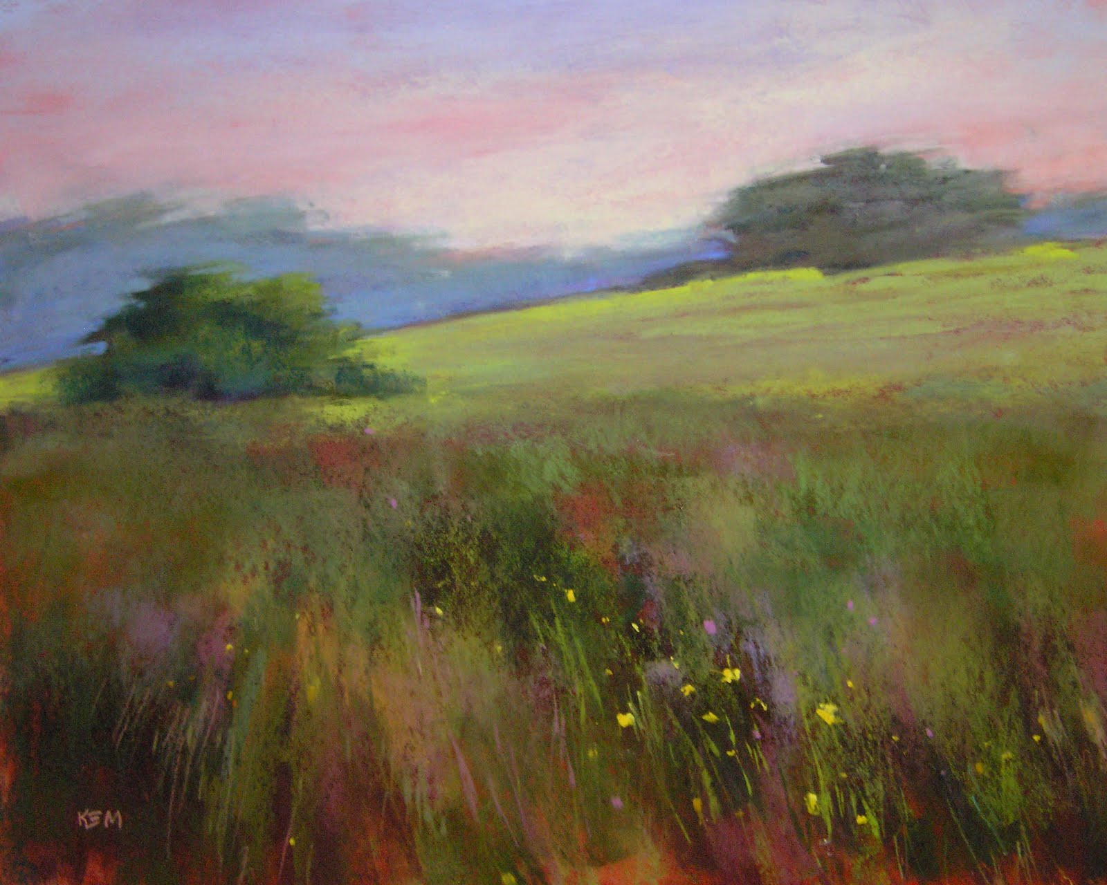 """Windswept Meadow 16x20 pastel"" original fine art by Karen Margulis"
