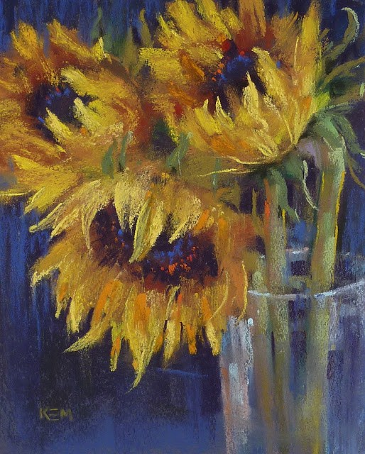 """""""Painting with Diane Townsend Pure Colors"""" original fine art by Karen Margulis"""
