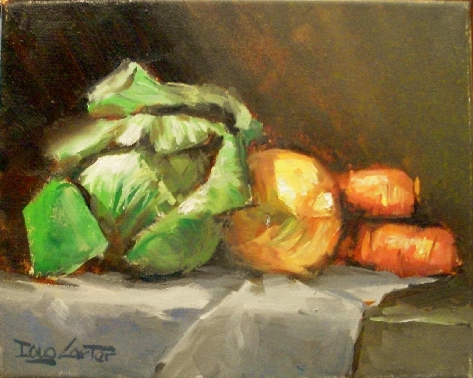 """COLE SLAW"" original fine art by Doug Carter"