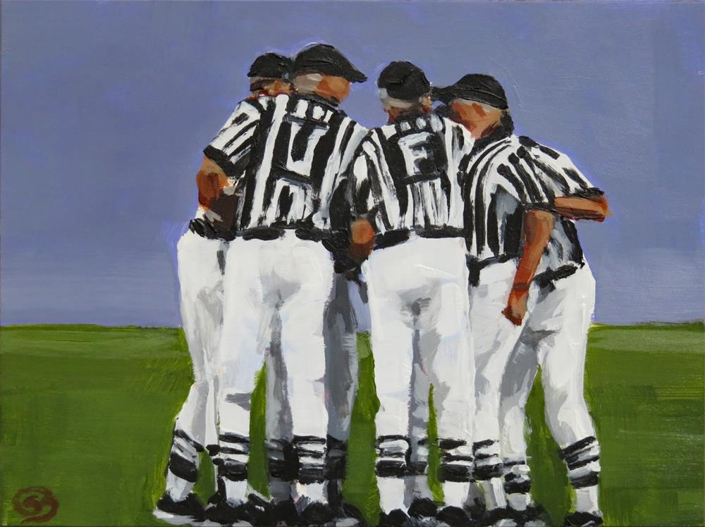 """""""Are You Ready For Some Football?"""" original fine art by Shari Buelt"""