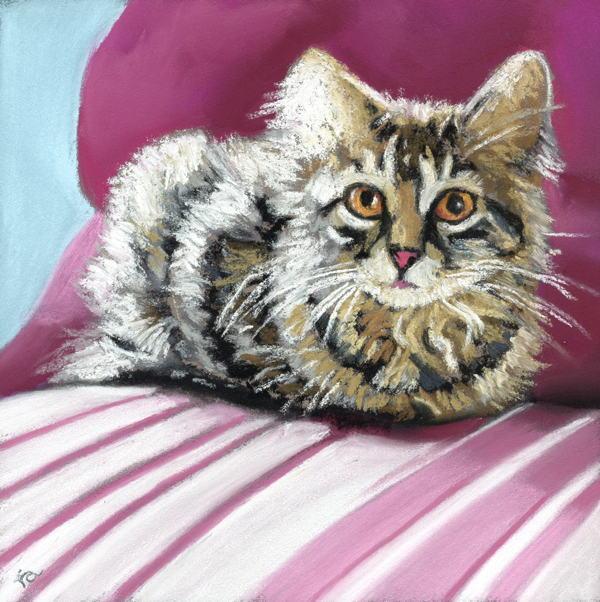 """the whole cat . ."" original fine art by Ria Hills"