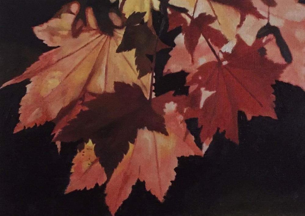 """Autumn Leaves II"" original fine art by John Cameron"