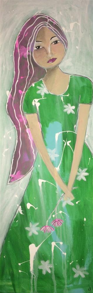 """She was her Own Best Friend"" original fine art by Kali Parsons"