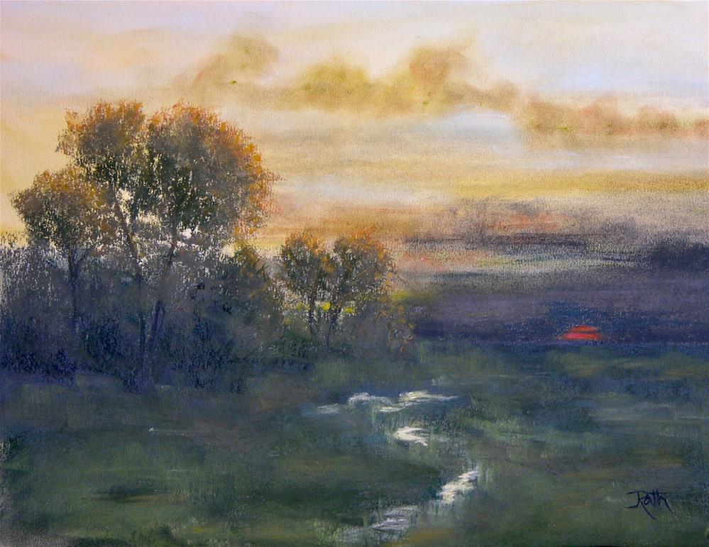 """Twilight at Deer Meadow"" original fine art by Judy Rath"
