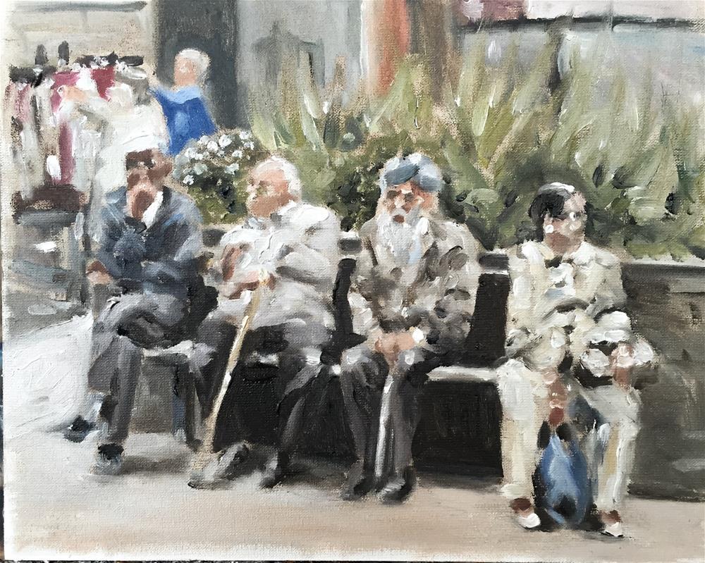"""""""Four Sages"""" original fine art by James Coates"""