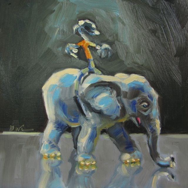 """""""SAFARI BENDER"""" original fine art by Mb Warner"""
