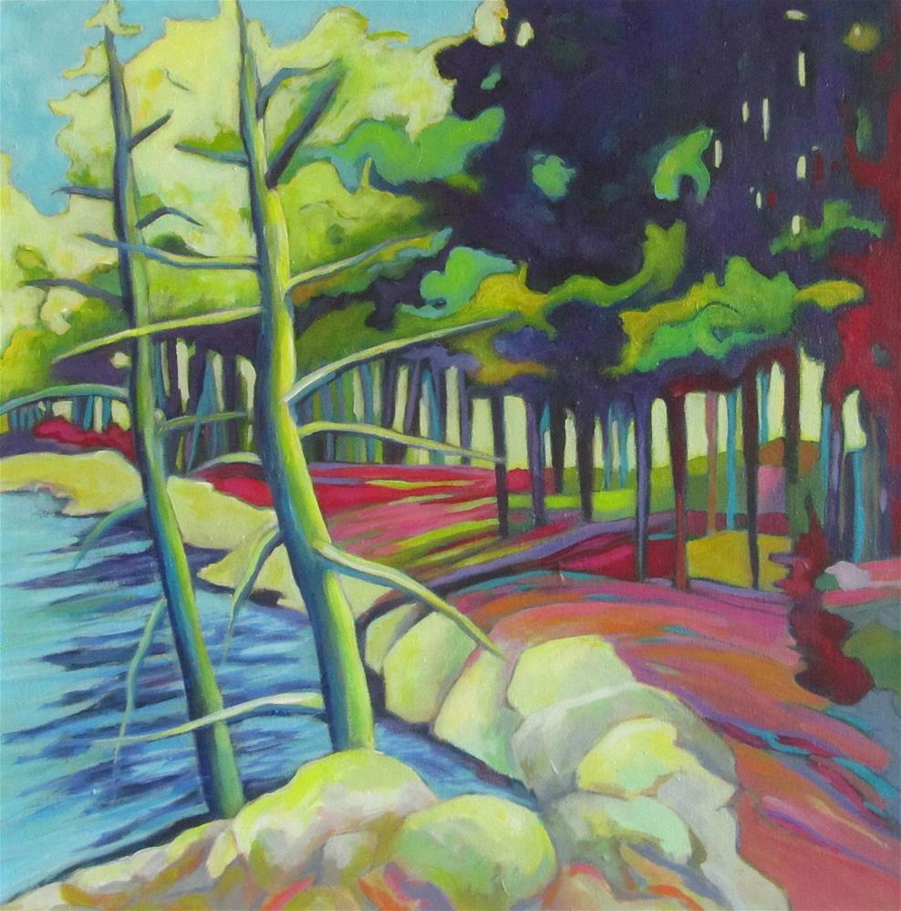 """Island Retreat"" original fine art by Patricia MacDonald"
