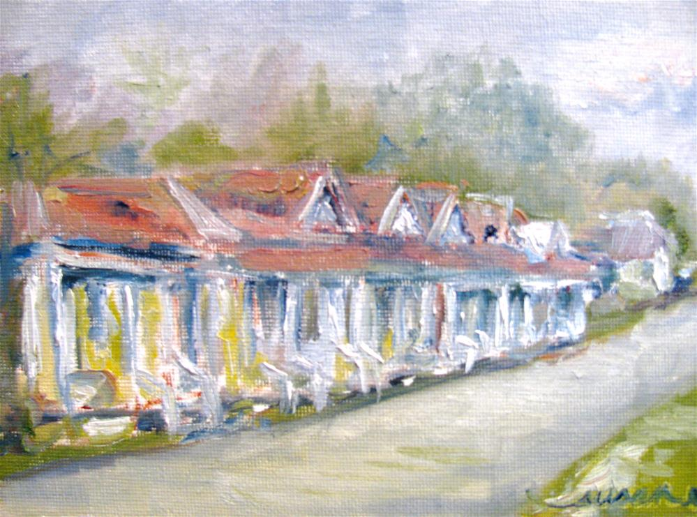 """Natchez Row Houses"" original fine art by Susan Elizabeth Jones"
