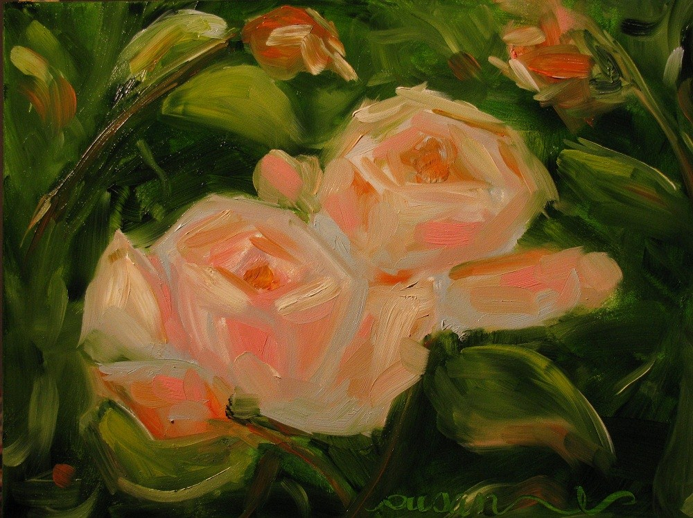 """Chanelle Roses"" original fine art by Susan Elizabeth Jones"