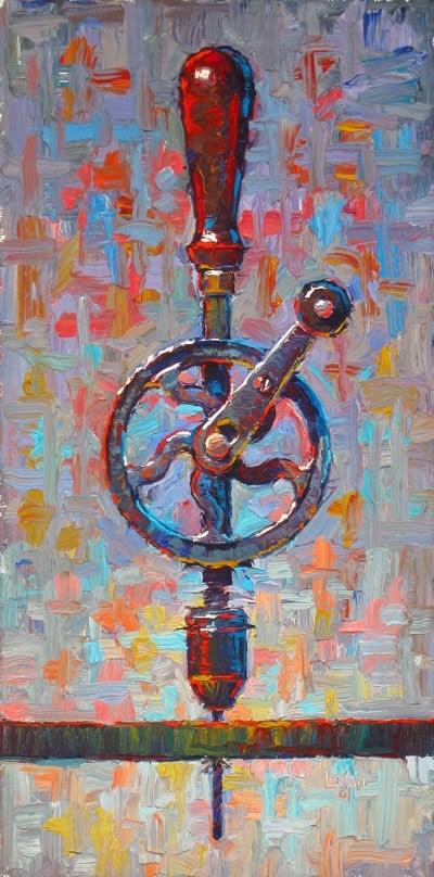"""""""My Ben Hur Hand Drill, A Bit Bigger"""" original fine art by Raymond Logan"""