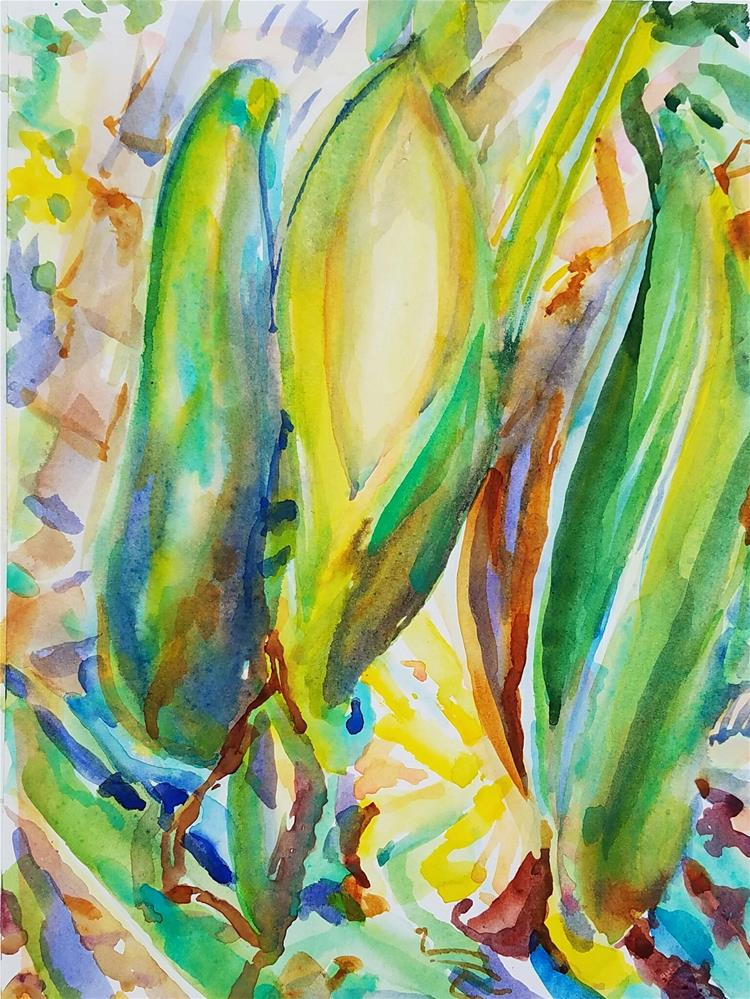 """Philodendron"" original fine art by Jean Krueger"