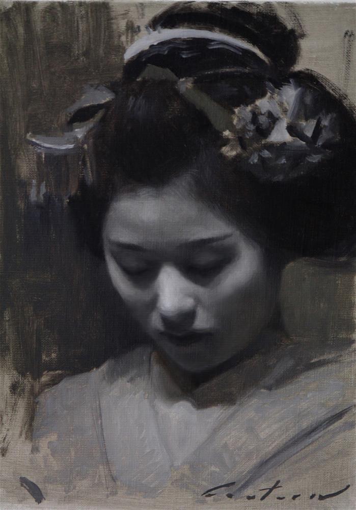"""Katsutomo Tonal Study"" original fine art by Phil Couture"