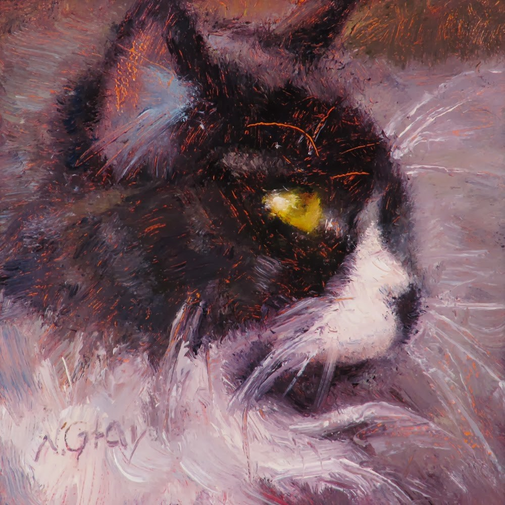 """""""Whiskers"""" original fine art by Naomi Gray"""