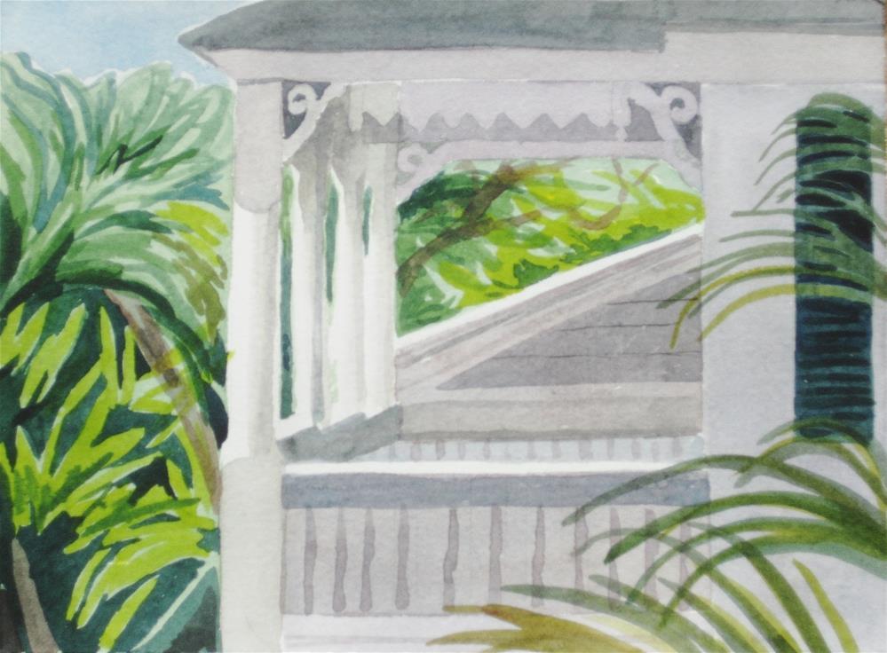 """Neighboring Porch"" original fine art by Priscilla Bohlen"