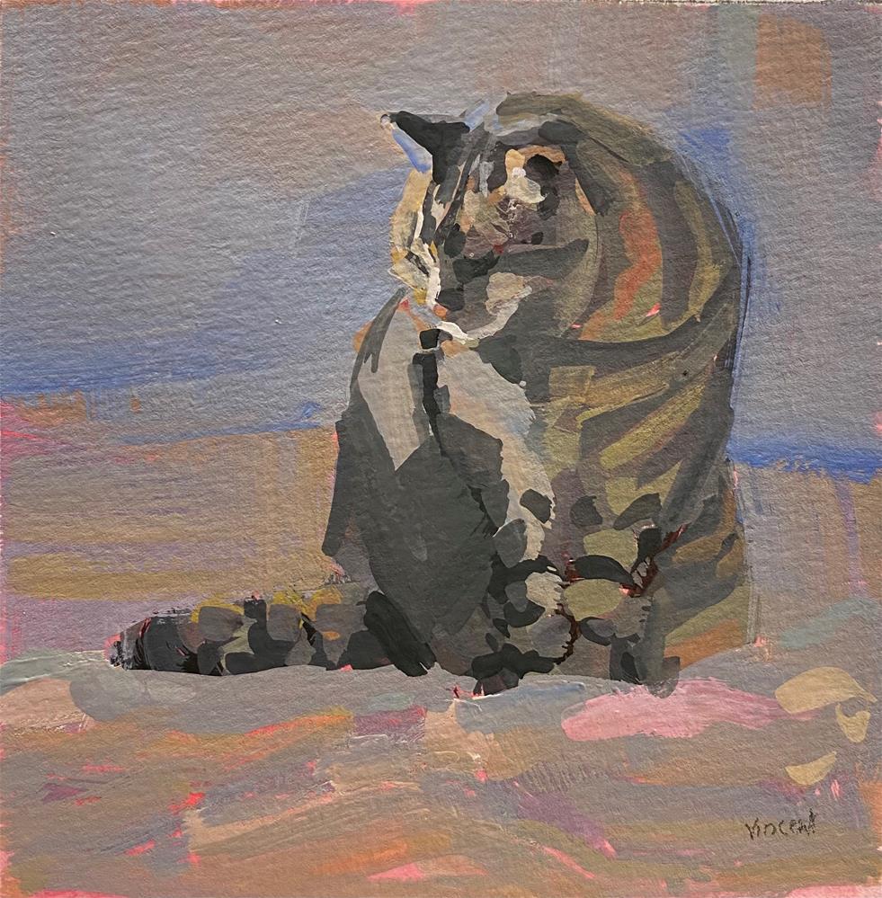 """Stay Warm"" original fine art by Patti Vincent"