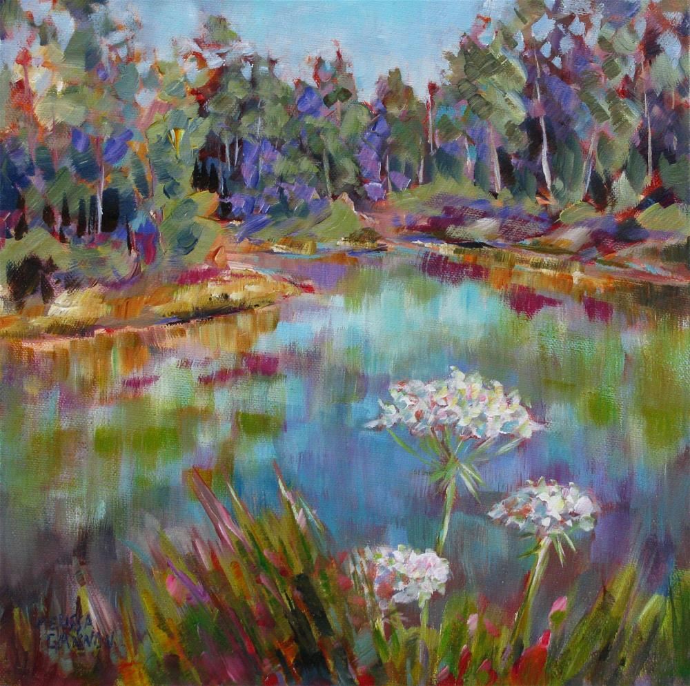 """""""Queen Anne's Lace in Front of the Water"""" original fine art by Melissa Gannon"""
