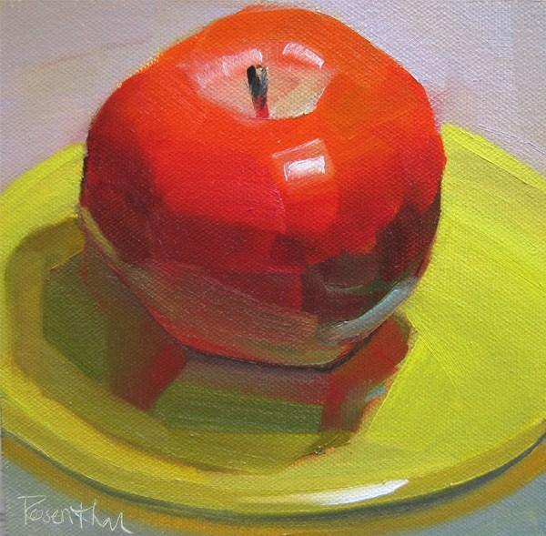 """Big Red"" original fine art by Robin Rosenthal"