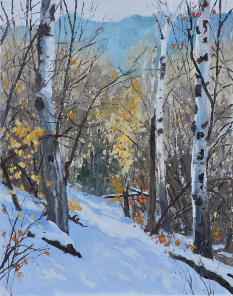 """Aspen Entryway"" original fine art by Carol Granger"