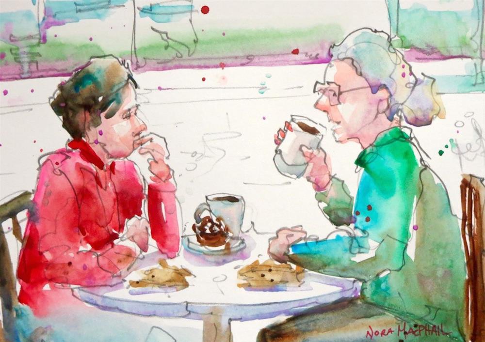"""tea with cinnamon"" original fine art by Nora MacPhail"