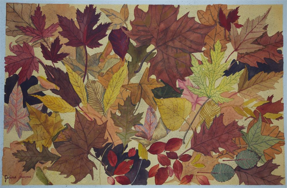 """Fall Leaves"" original fine art by Garima Heath"