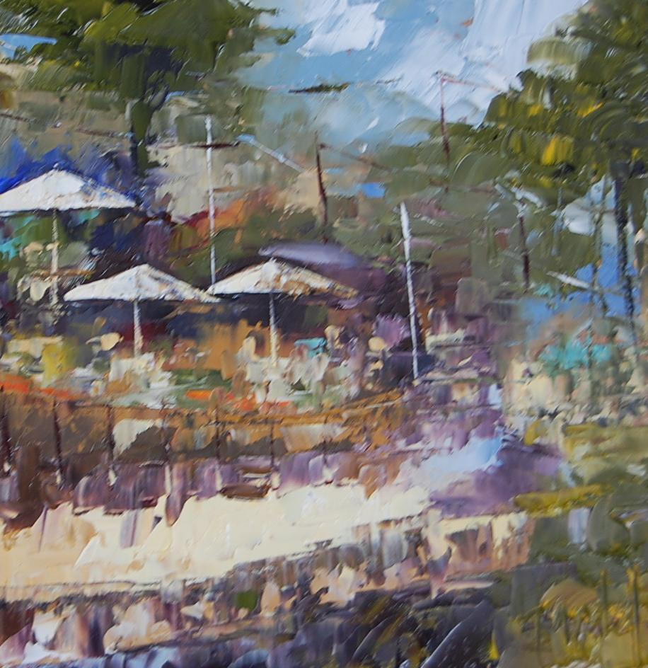 """""""Beachcomber Restaurant #4"""" original fine art by Deborah Harold"""