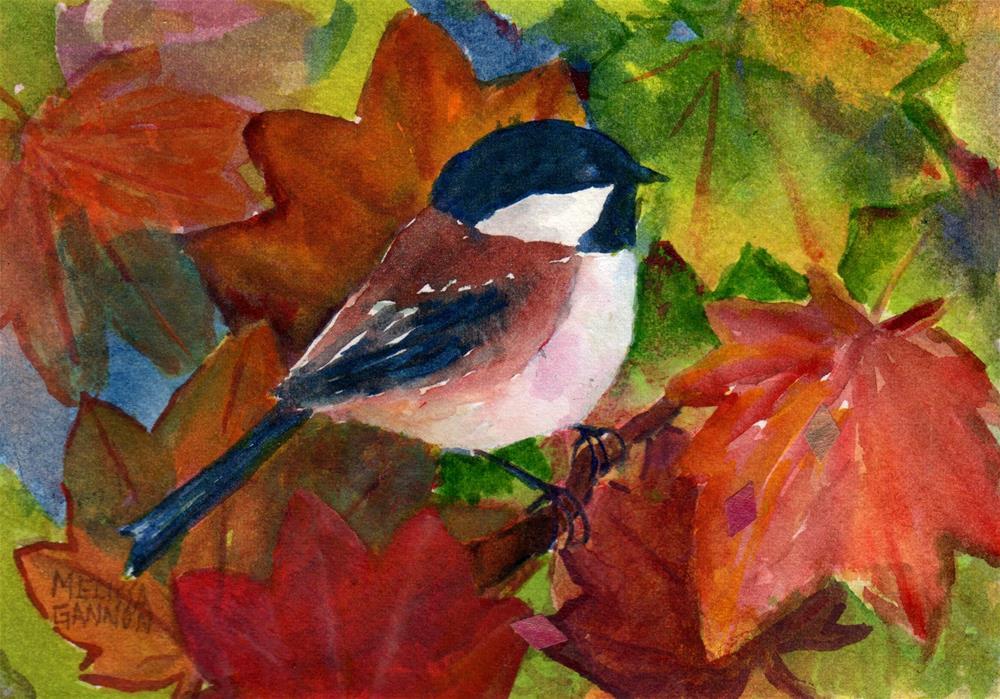 """Maple Tree Perch"" original fine art by Melissa Gannon"