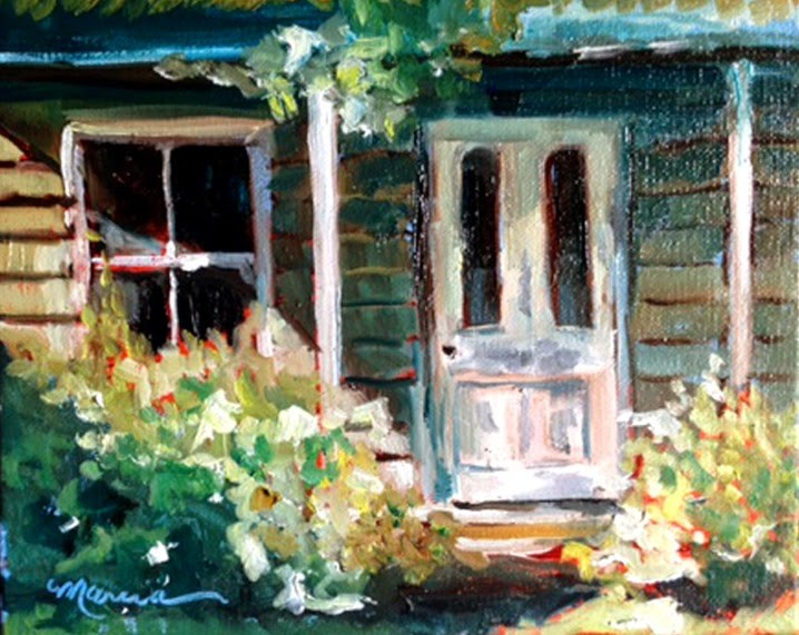 """The Old House"" original fine art by Marcia Hodges"
