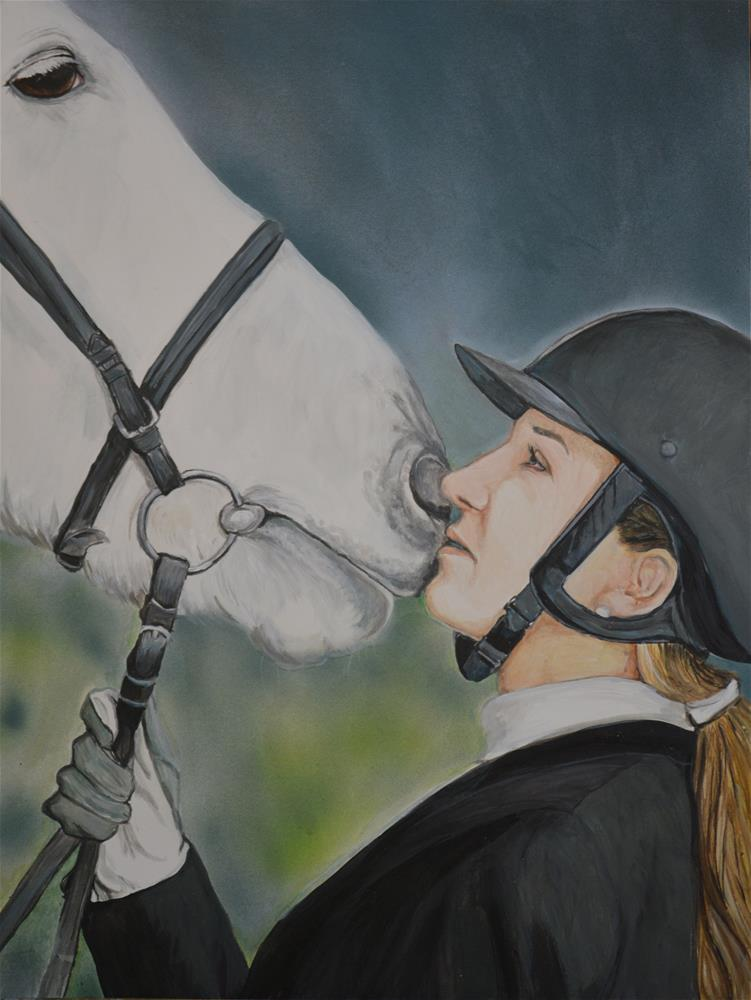 """""""Girl and her Horse"""" original fine art by Charlotte Yealey"""