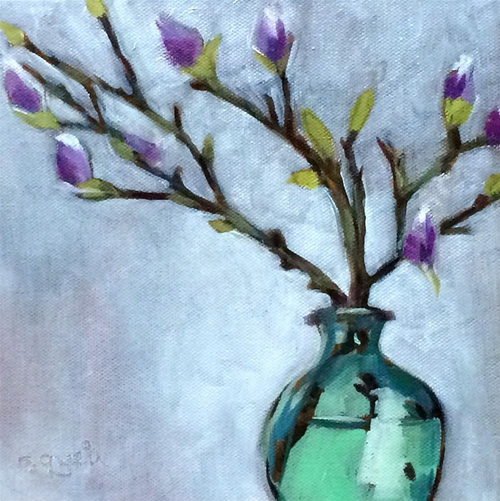 """M - is for Magnolia"" original fine art by Suzanne Gysin"