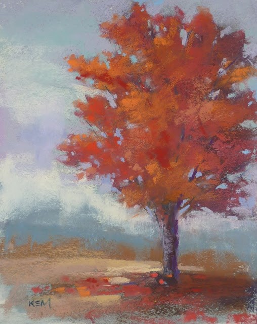 """""""Sky Color and The Autumn Landscape"""" original fine art by Karen Margulis"""