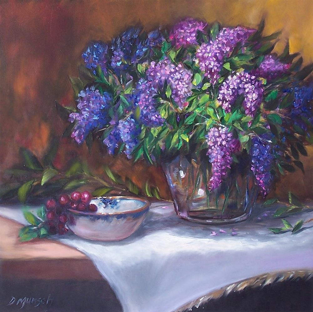 """Lilacs"" original fine art by Donna Munsch"