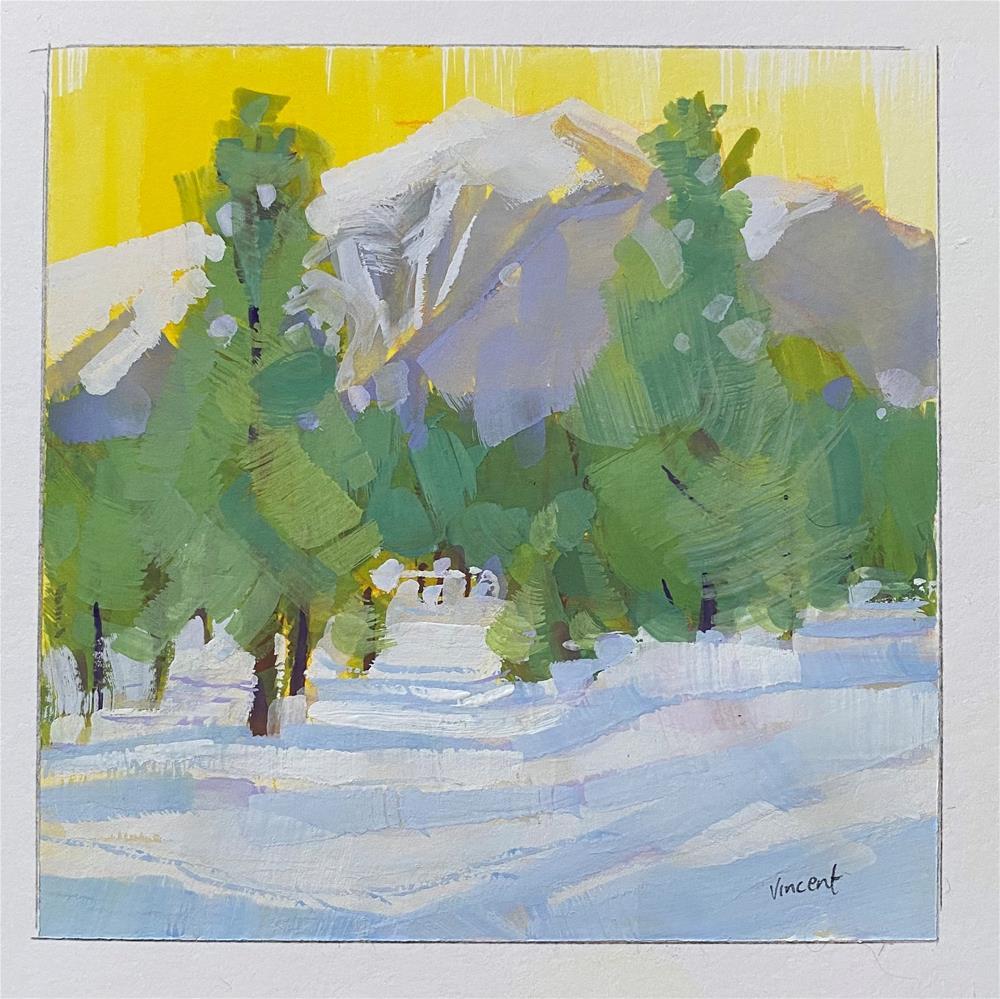 """Snowed Again"" original fine art by Patti Vincent"