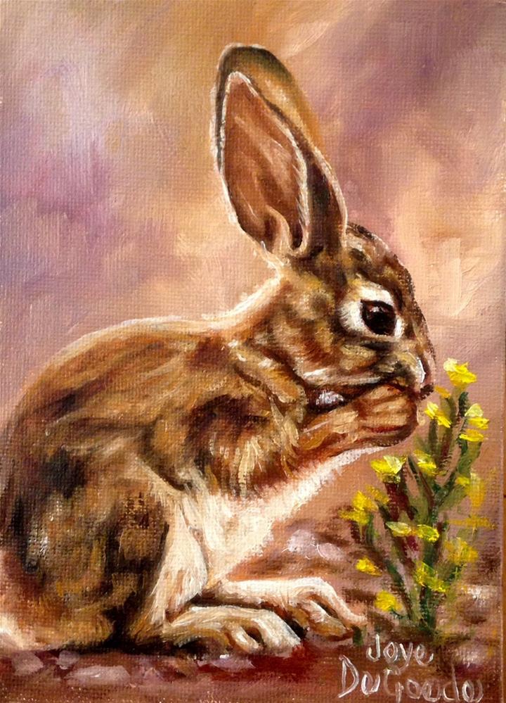 """""""Bunny Blessings (c) by Joye DeGoede"""" original fine art by Joye DeGoede"""
