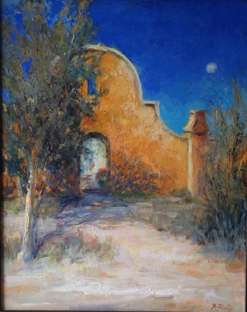 """The Mission Wall"" original fine art by Barbara Fluty"