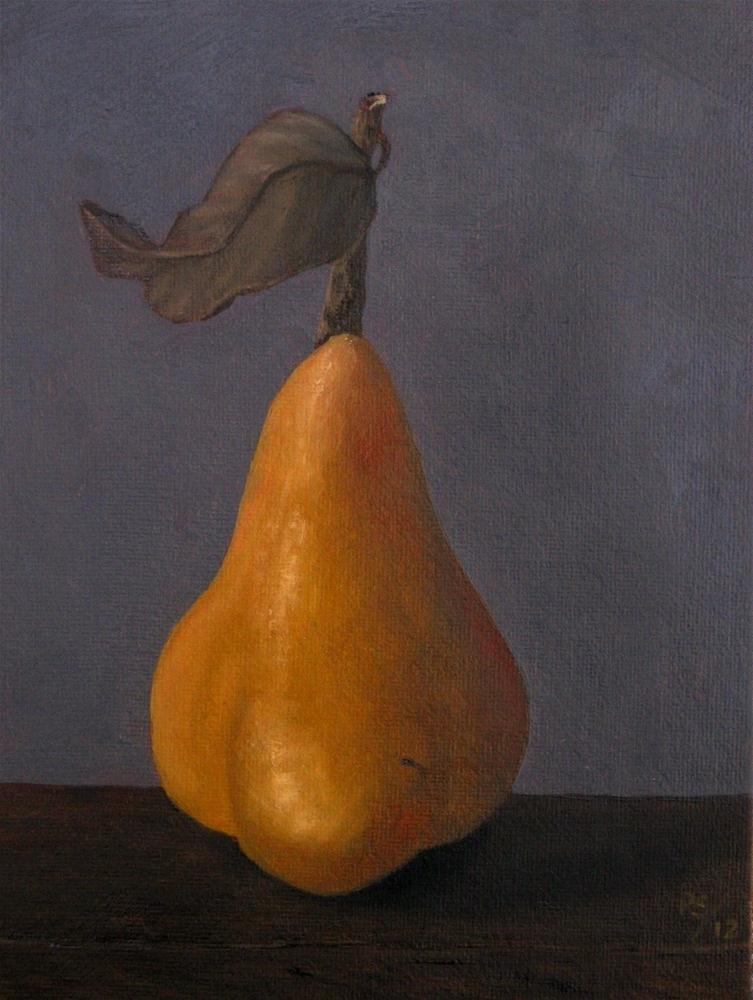 """""""Beurre bosc Pear III"""" original fine art by Pera Schillings"""