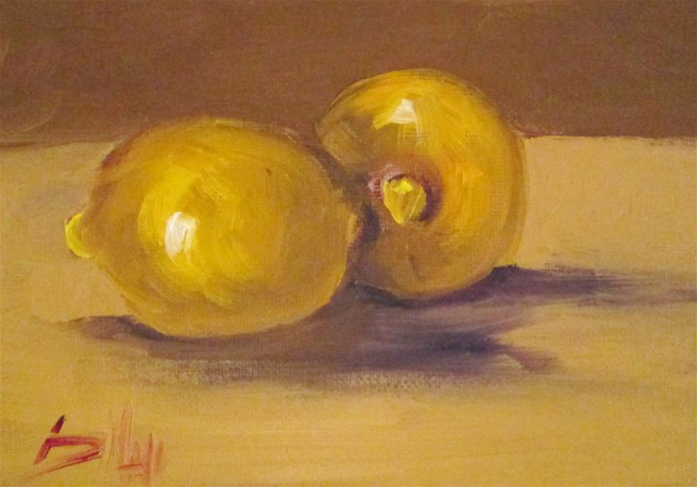 """Two Lemons"" original fine art by Delilah Smith"