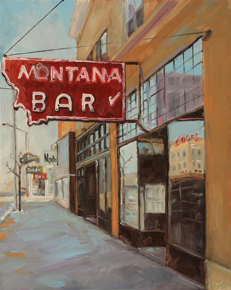 """""""Small Town- John Mellencamp"""" original fine art by Tess Lehman"""